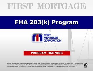 FHA 203(k) Program