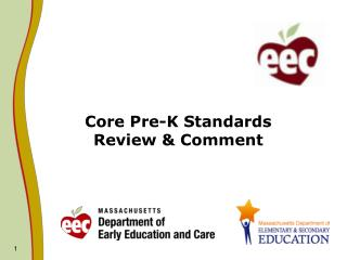Core Pre-K Standards  Review & Comment