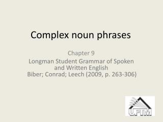 Complex noun phrases