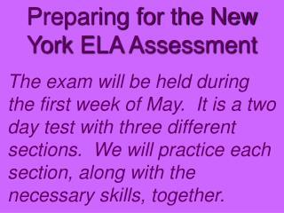 Preparing for the New York ELA Assessment