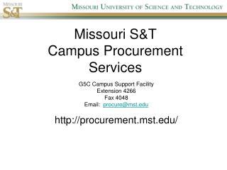 Missouri S&T Campus Procurement Services