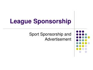 League Sponsorship
