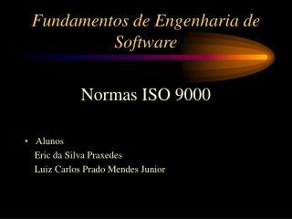 Fundamentos de Engenharia de Software
