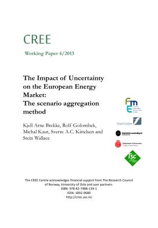 The Impact of Uncertainty on the European Energy Market: The scenario aggregation  method