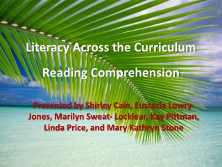 Literacy Across the Curriculum Reading Comprehension