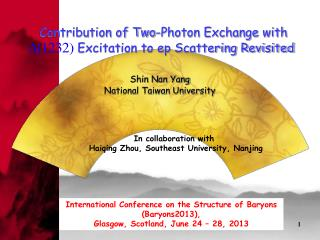 International Conference on the Structure of Baryons (Baryons2013),