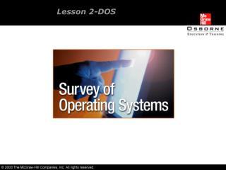 Lesson 2-DOS