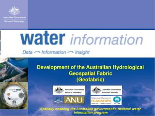Development of the Australian Hydrological Geospatial Fabric (Geofabric)