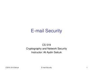 E-mail Security
