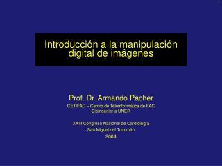Introducción a l a manipulación digital de imágenes