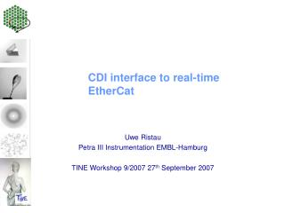 CDI interface to real-time EtherCat