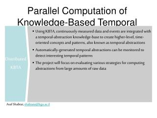 Parallel Computation of Knowledge-Based Temporal Abstractions