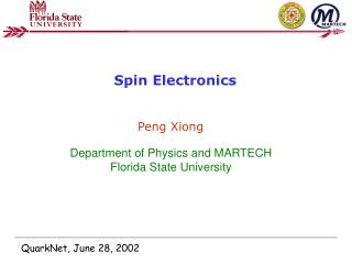 Spin Electronics