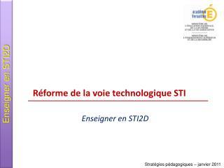 R forme de la voie technologique STI