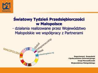 Departament  Gospodarki  i Społeczeństwa Informacyjnego Urząd Marszałkowski