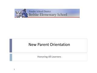 New Parent Orientation
