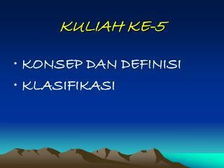 KULIAH KE-5