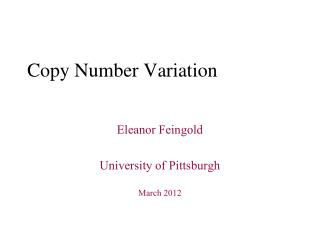 Copy Number Variation