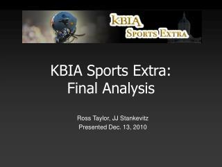 KBIA Sports Extra: Final Analysis
