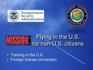Flying in the U.S. for non-U.S. citizens