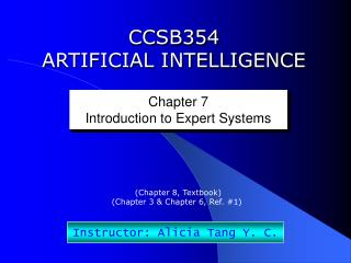 CCSB354 ARTIFICIAL INTELLIGENCE