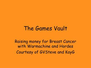 The Games Vault