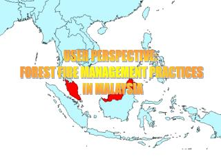 USER PERSPECTIVE:  FOREST FIRE MANAGEMENT PRACTICES  IN MALAYSIA