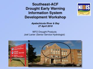 Southeast-ACF  Drought Early Warning Information System Development Workshop