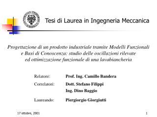 Tesi di Laurea in Ingegneria Meccanica