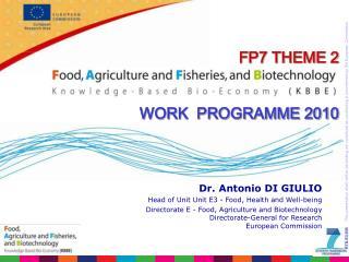 FP7 THEME 2 WORK  PROGRAMME 2010