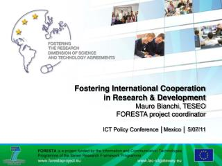 Strategy for International Cooperation