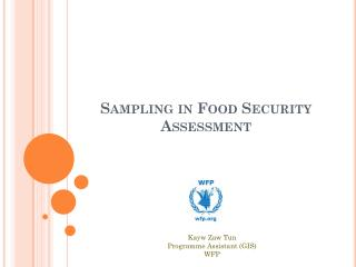 Sampling in Food Security Assessment