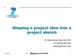 Shaping a project idea into a project sketch