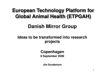 European Technology Platform for Global Animal Health (ETPGAH)
