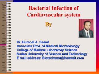 Bacterial Infection of Cardiovascular system