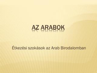 Az arabok