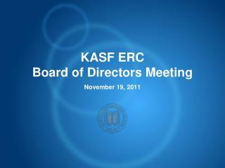 KASF ERC Board of Directors Meeting