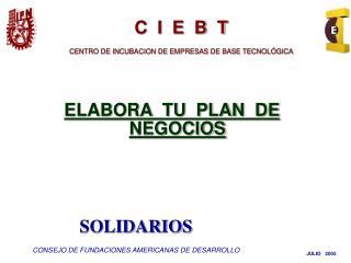 ELABORA  TU  PLAN  DE  NEGOCIOS