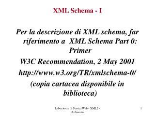 XML Schema - I
