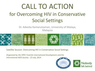 CALL TO ACTION for Overcoming HIV in Conservative Social Settings