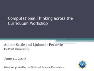 Computational Thinking across the Curriculum Workshop