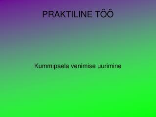 PRAKTILINE T��