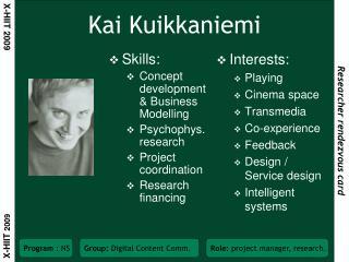 Kai Kuikkaniemi