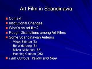 Art Film in Scandinavia