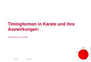 Timingformen in Karate und ihre Auswirkungen:
