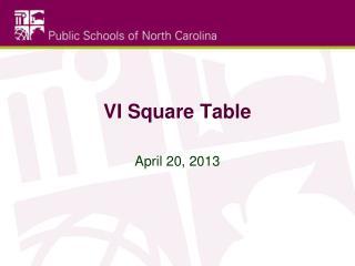 VI Square Table