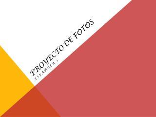 Proyecto De Fotos