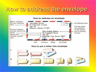 How to address the envelope