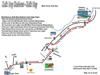 Directions to Kalk Bay Harbour from Cape Town Take the Eastern Boulevard and follow
