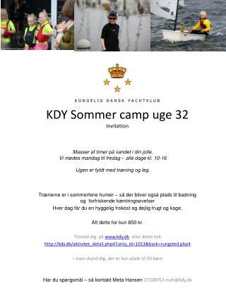KDY Sommer camp uge 32 Invitation